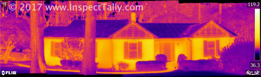 Thermal Image of a home exterior