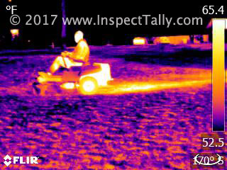 Thermal Image of a zero turn lawn mower
