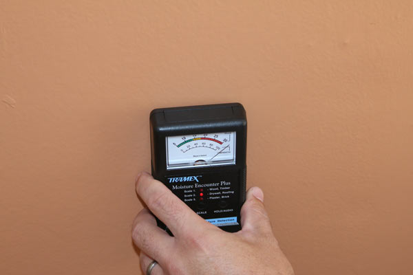Tallahassee Home inspector using moisture meter