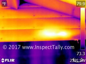 infrared camera image from Home Inspection