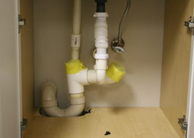 Four Point Inspection, under sink plumbing