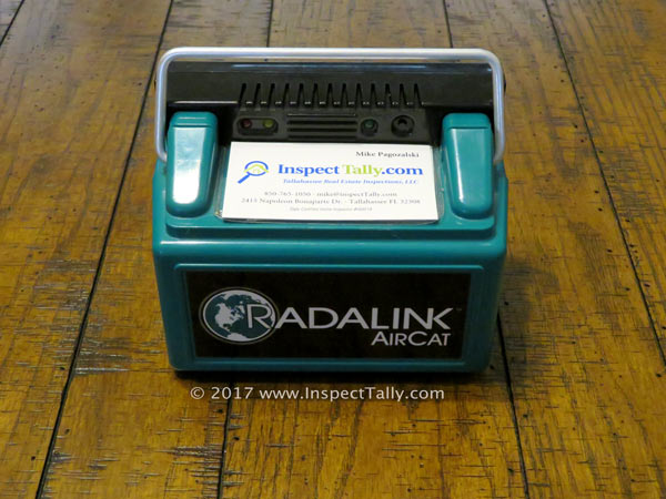 Tallahassee Home Inspection Radon Testing Device